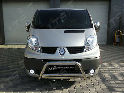 Renault Trafic Chrome Nudge A-Bar, Stainless Steel Bull Bar 2001 - 2014 W K