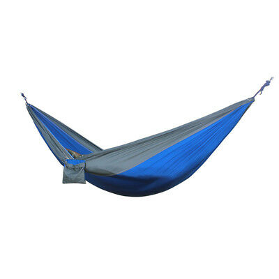 Double 2 Person Travel Camping Outdoor Nylon Fabric Hammock Bed Sleeping Swing