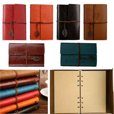 Classic Vintage Portable Leaves PU Leather Notebook Refillable Journal