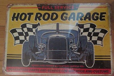 Hot Rod Garage .sign Man Cave Sign 30 By 20 Cm