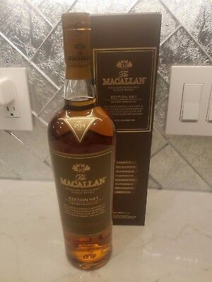 Macallan Edition No.1 Single Malt Scotch Whisky  Discontinued RARE,1 bottle left