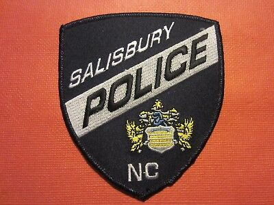 Collectible North Carolina Police Patch, Salisbury, New