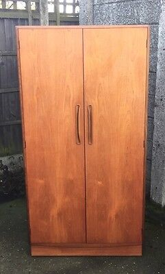 Superb Retro Teak G Plan 2-Door Wardrobe Clean Condition, Matching Robe Listed