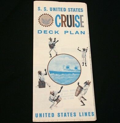 UNITED STATES LINES SS UNITED STATES Deck Plan