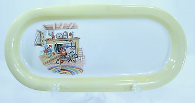Homer Laughlin Eggshell Colonial Kitchen Bread Tray Plate Oval Serving Dish Rare