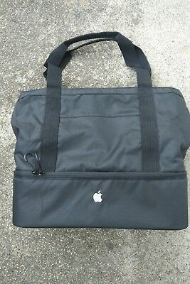 New Apple Exclusive Cooler Tote Bag Black w/ Silver Logo