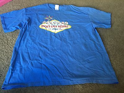 Nice men's size XL Gildan Dick's Last Resort Las Vegas blue shirt t-shirt