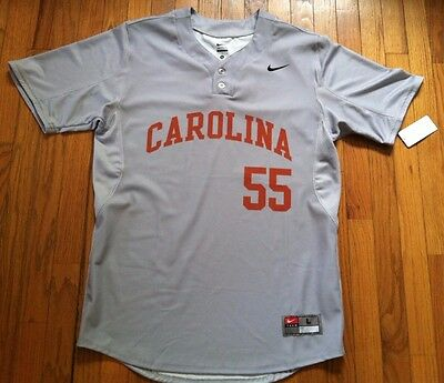 UNC Nike North Carolina Team Issued Baseball Warm-up Two-button Jersey Men's L