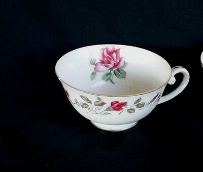 Vintage MOSS ROSE Diamond China Made in JAPAN Tea Cup, Excellent Condition!