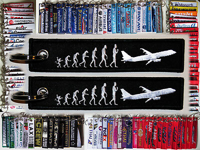 Keyring for Pilots: Evolution of Flight - from monkey to flying
