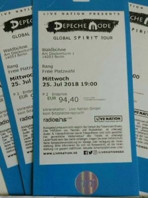 2 karten depeche mode waldb hne berlin 25 juli 2018 global spirit tour tickets eur 250 00. Black Bedroom Furniture Sets. Home Design Ideas
