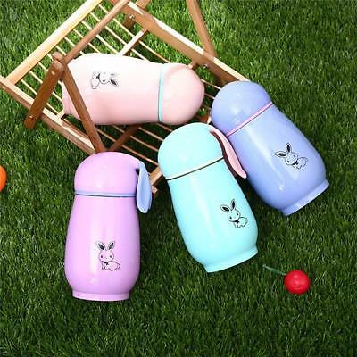 Rabbit Shape Vacuum Cup Thermal Bottle Cup Travel Mug Portable Water Cups Gift B