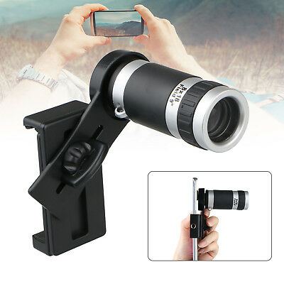 Universal 8X Optical Zoom HD Telescope Camera Lens + Holder Mobile Cell Phone
