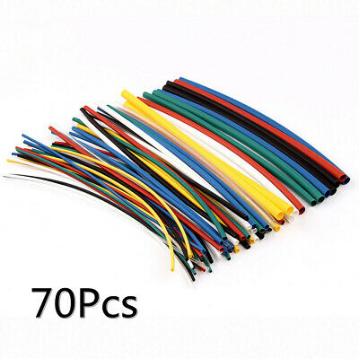 70 pcs 2:1 Heat Shrink Tubing Tube Assortment Wire Cable Insulation Sleeving Kit