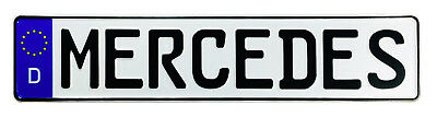 Mercedes German License Plate by Z Plates