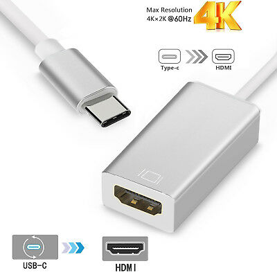 USB-C Type C USB 3.1 Male to HDMI Female Adapter Cable For LeTV Phone MacBook 12