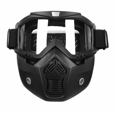 Detachable Modular Riding Motorcycle Face Mask Helmet Goggles Shield Motorb W3A6