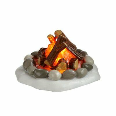 """1.5"""" Hand Crafted Battery Powered LED Lit Campfire Pit Figurine For Home Decor"""