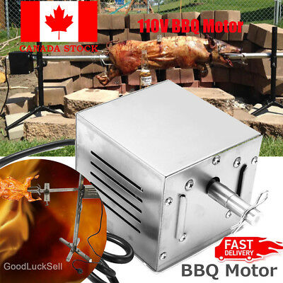 120KG Stainless Steel BBQ Motor Pig Chicken Grill Electric Rotisserie Roaster CA