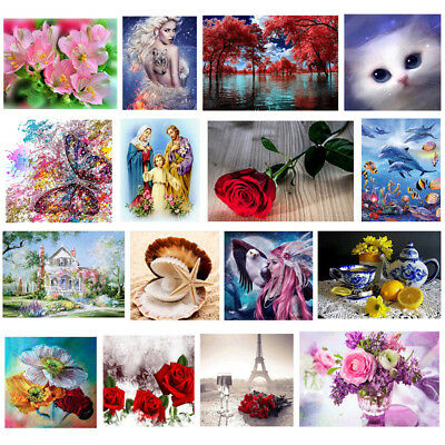 5D Diamond Painting Flowers Embroidery DIY Craft Cross Stitch Kit Home Decor Art