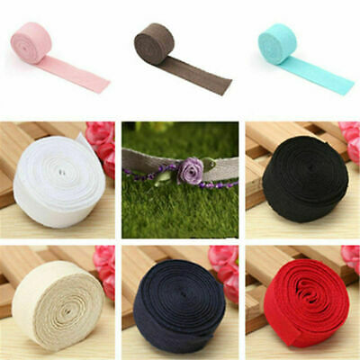 45M Cotton Binding Tape Bias Ribbon Strap Sewing Craft Webbing Trimmings 1-2.5cm