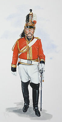 Original Military Watercolour Painting - Officer 1St Kings Dragoon Guards 1815