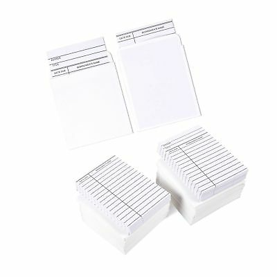 Set of 100 Library Cards and Book Pockets - Library Pockets Library Card Hold...