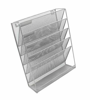 EasyPAG Mesh Wall File Holder Organizer Mounted Literature Rack 5 Compartment...