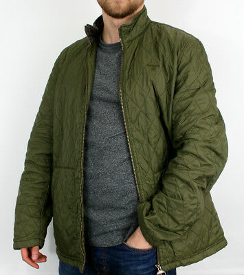 Men's Barbour Lakeside Quilt Size L Green Quilted Jacket Winter Season