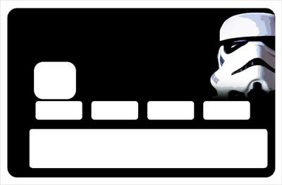 Stickers CB, decoratif, pour carte bancaire,StormTrooper Black