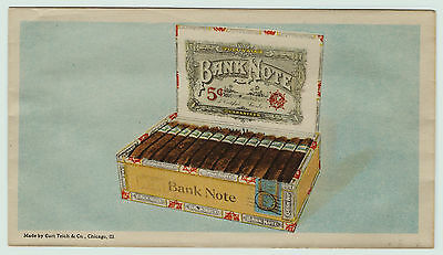 SUPER All Over Advertising Cover Envelope Bank Note Cigars - Tobacco ca 1900