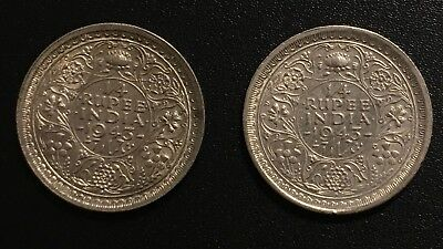 British India 1/4 Rupee, 1943 B Uncirculated Silver