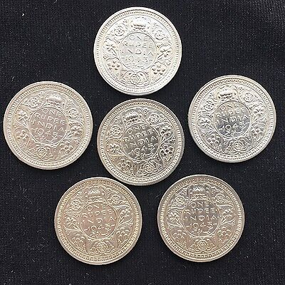 British India One Rupee, 1945 B Uncirculated Silver