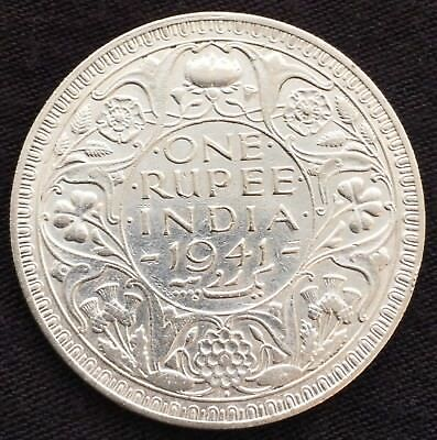 British-India-One-Rupee-1941-B-Uncirculated - Silver