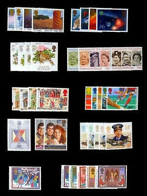 GB 1986 Commemorative Complete Year Collection 10 Sets U/M NC537