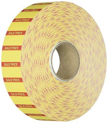 Monarch 1131 1-line Pricing Labels, Yellow/Red Labels, 2,500/Roll