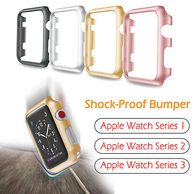 Apple Watch Series 3/2/1 Snap on Bumper Frame Plated Case Cover Protect 38/42mm
