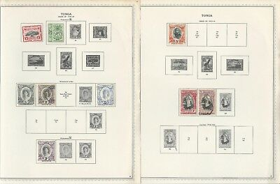 Tonga 1886 to 1988 Collection on 150 One-Sided Minkus Specialty Pages