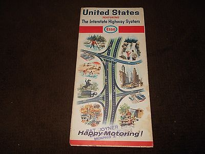 April 1964 ~ESSO~ United States Road ~MAP~ Featuring Interstate Highway System