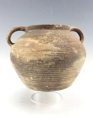 Ancient Holy Land Pottery Jar with twin handles Roman Period c.1st century AD