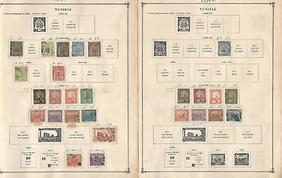 Tunisia Collection 1888 to 1992 on Scott International Pages, Around 30 Pages