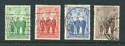 1940 Australia.  Australian Imperial Forces.  Full set USED.  SG 196/199.