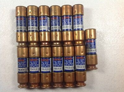 Lot Of 13 Bussmann Fusetron Dual Element Time Delay Frn-R-10 Fuse