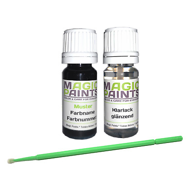Touch Up Paint Stick Set BMW, Color Number: 475 Black Sapphire Met. + Clearcoat