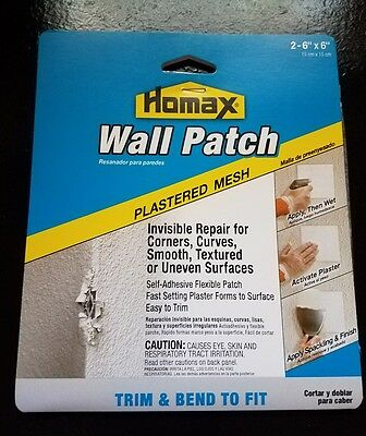 Homax Wall Patch, Self Adhesive ,6x6in ,PK2, 2297