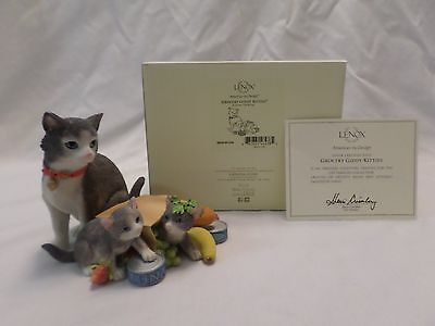 Lenox Grocery Giddy Kitties Figurine Momma and Kittens NEW # 841539