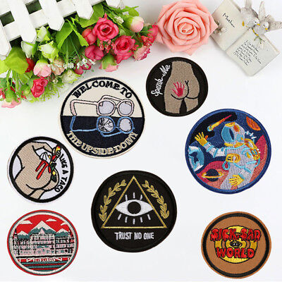 Cute Punk Space Embroidery Sew On Iron On Patch Badge Bag Jeans Applique Craft