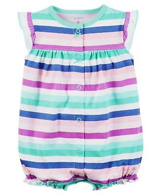 Carter's Baby Girl Snap Up Romper One Piece Cute Clothes 3 6 9 12 18 24 Month