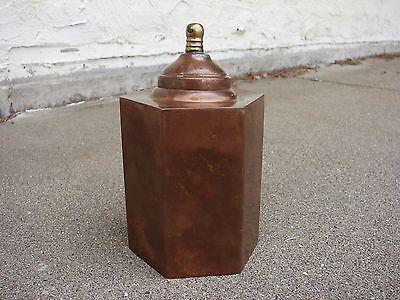 VTG Arts & Crafts COPPER Tobacco TEA CADDY STICKLEY Era
