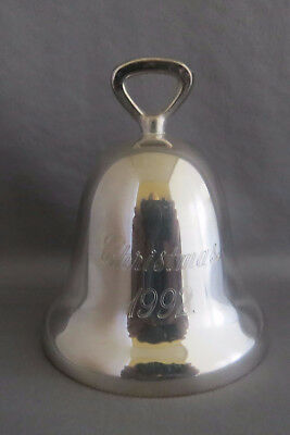 1992 Reed & Barton Christmas Bell Ornament